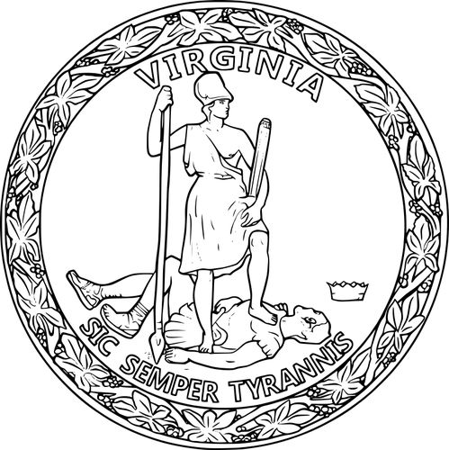 virginia state flag coloring page virginia seal vector transparent in 2020 flag coloring page flag virginia state