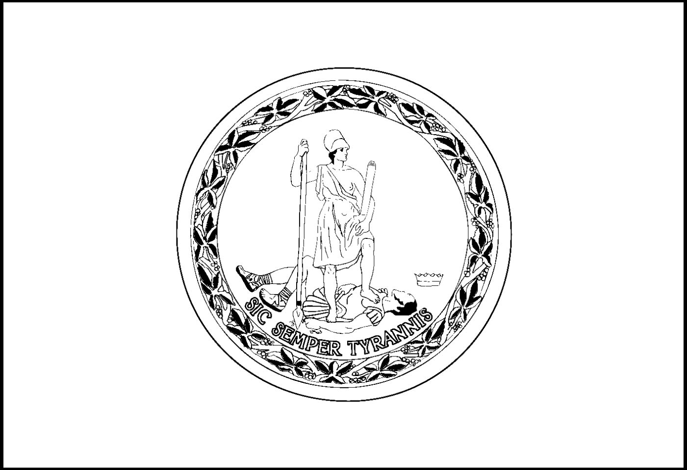 virginia state flag coloring page virginia state flag state flag page virginia coloring