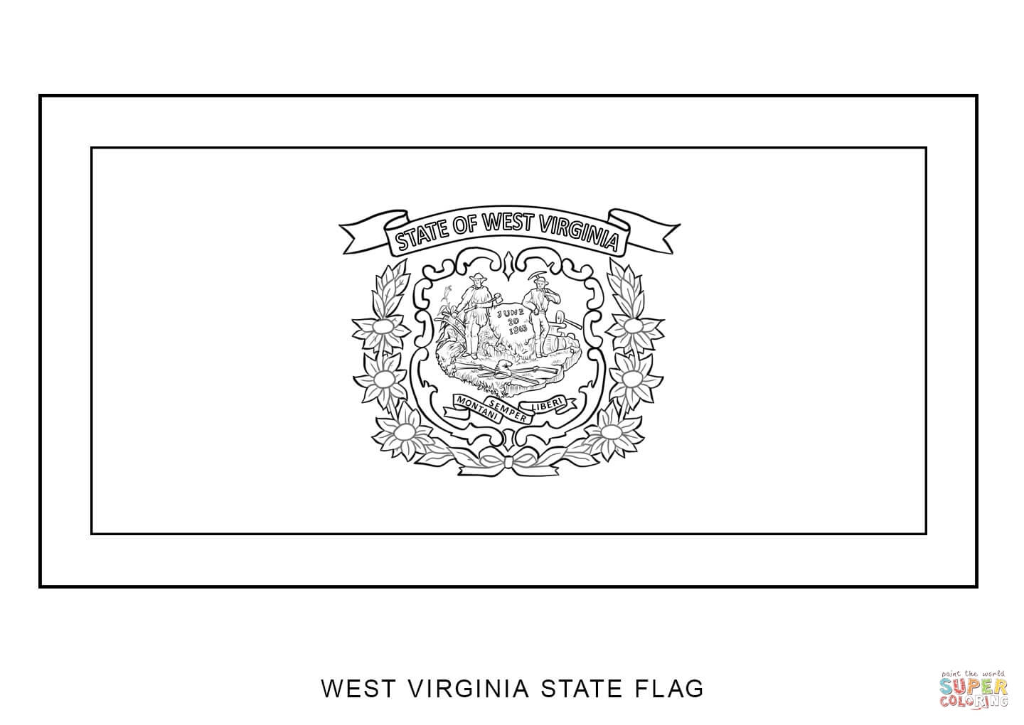 virginia state flag coloring page west virginia state flag coloring page free printable flag state page coloring virginia