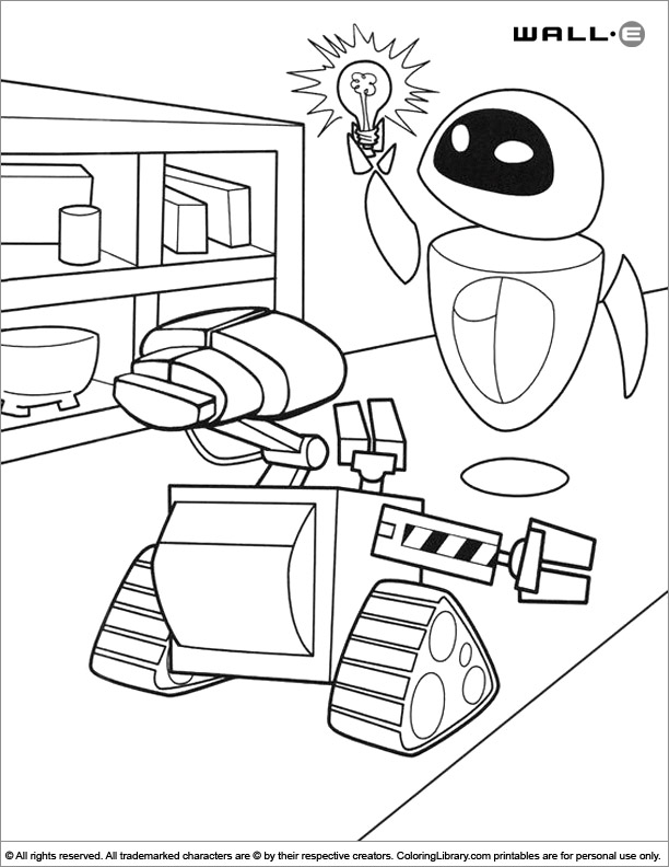 wall e coloring pages printable wall e coloring page coloring library coloring wall e pages