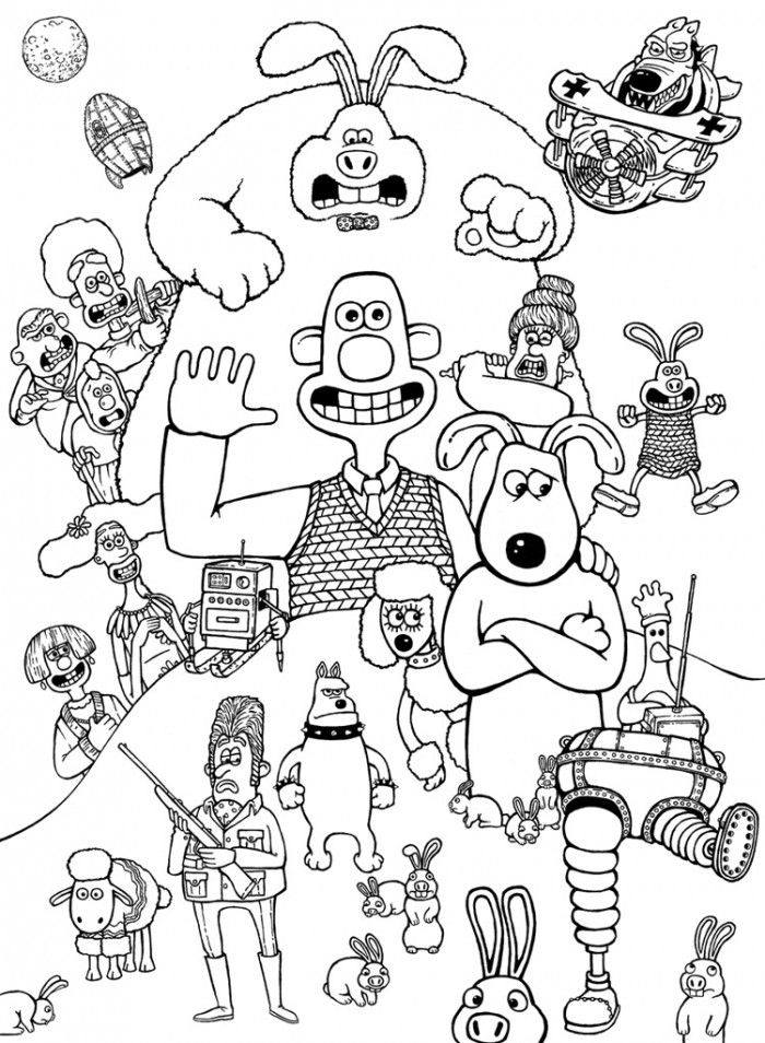 wallace and gromit pictures to print wallace and gromit color page coloring pages for kids pictures gromit and to wallace print