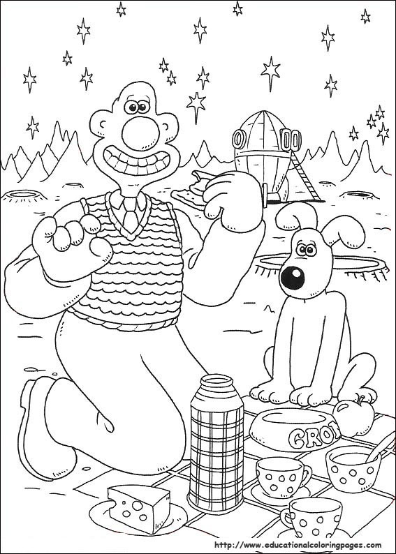 wallace and gromit pictures to print wallace and gromit coloring pages educational fun kids wallace print pictures and gromit to