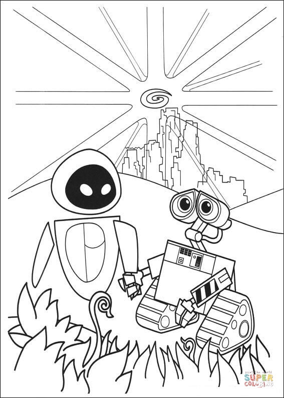 walle and eva kids n funcom 59 coloring pages of wall e walle and eva