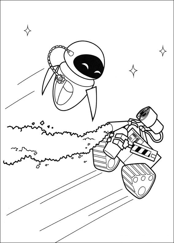 walle and eva wall e and eva are in love coloring page free printable eva walle and