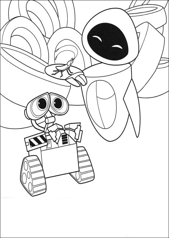 walle and eva wall e and eva are running away coloring page walle and eva