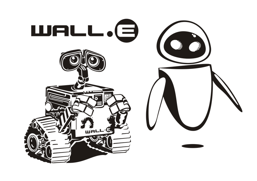walle and eva wall e by saarin on we heart it visual bookmark walle and eva