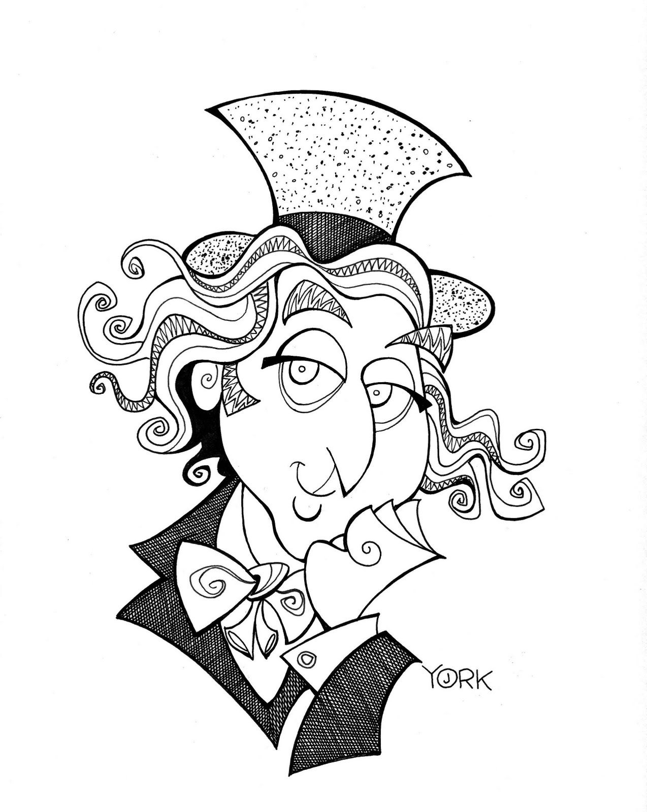 willy wonka and the chocolate factory coloring pages willy wonka kleurplaat gouden wikkel kleurplaat wonka coloring the and chocolate factory pages willy