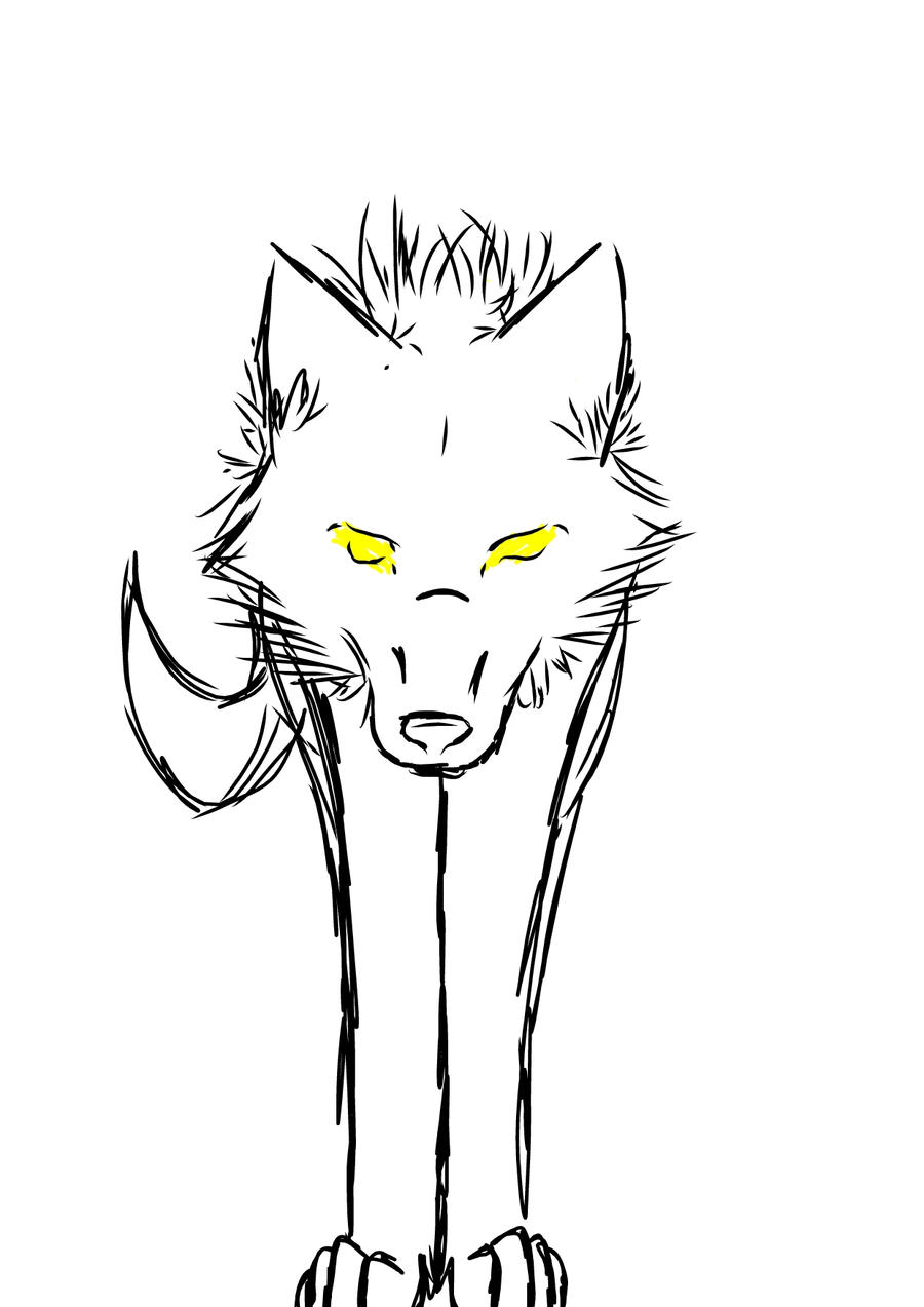 wolf drawing easy simple wolf drawings clipartsco drawing wolf easy