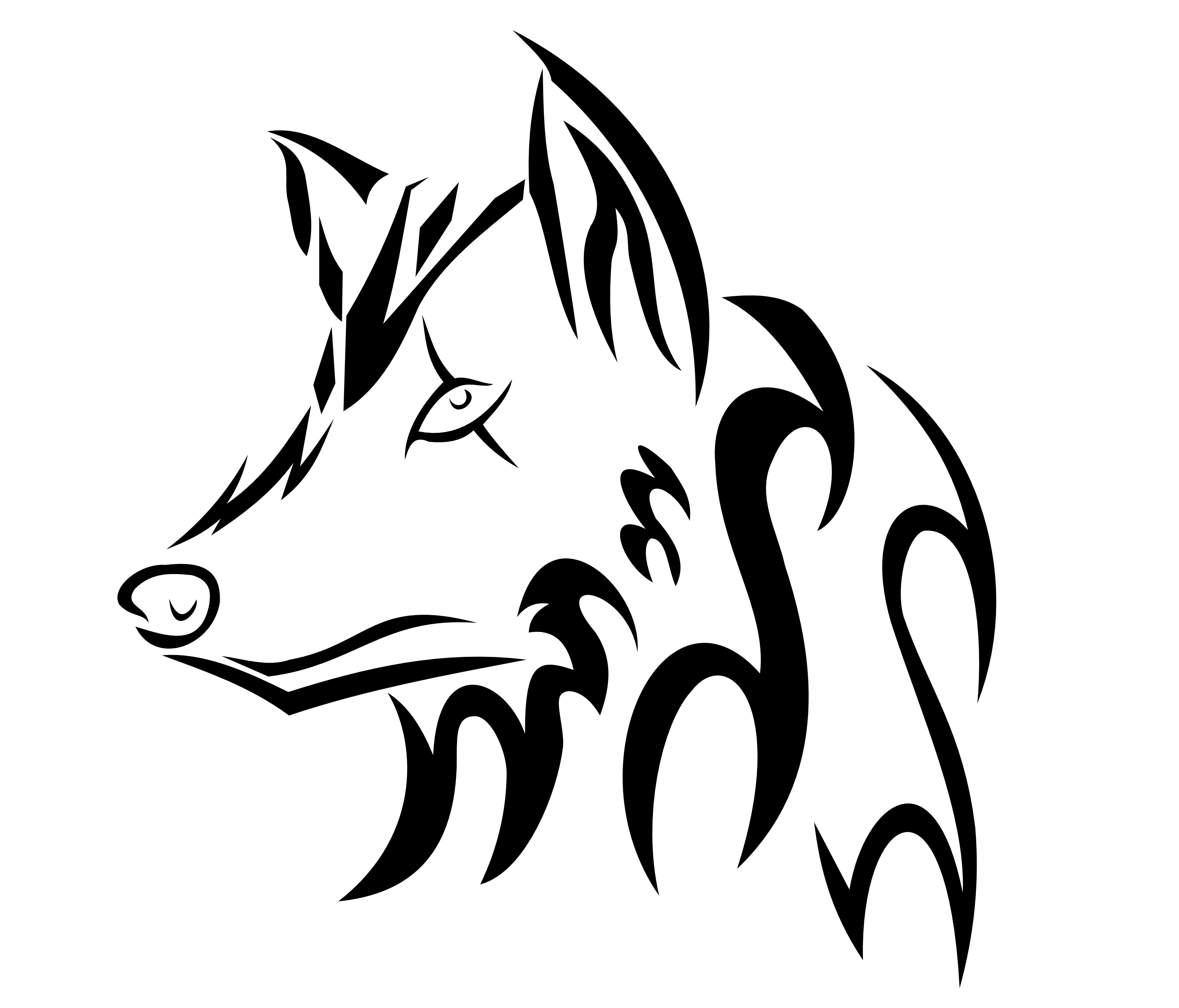 wolf drawing easy simple wolf drawings clipartsco easy drawing wolf