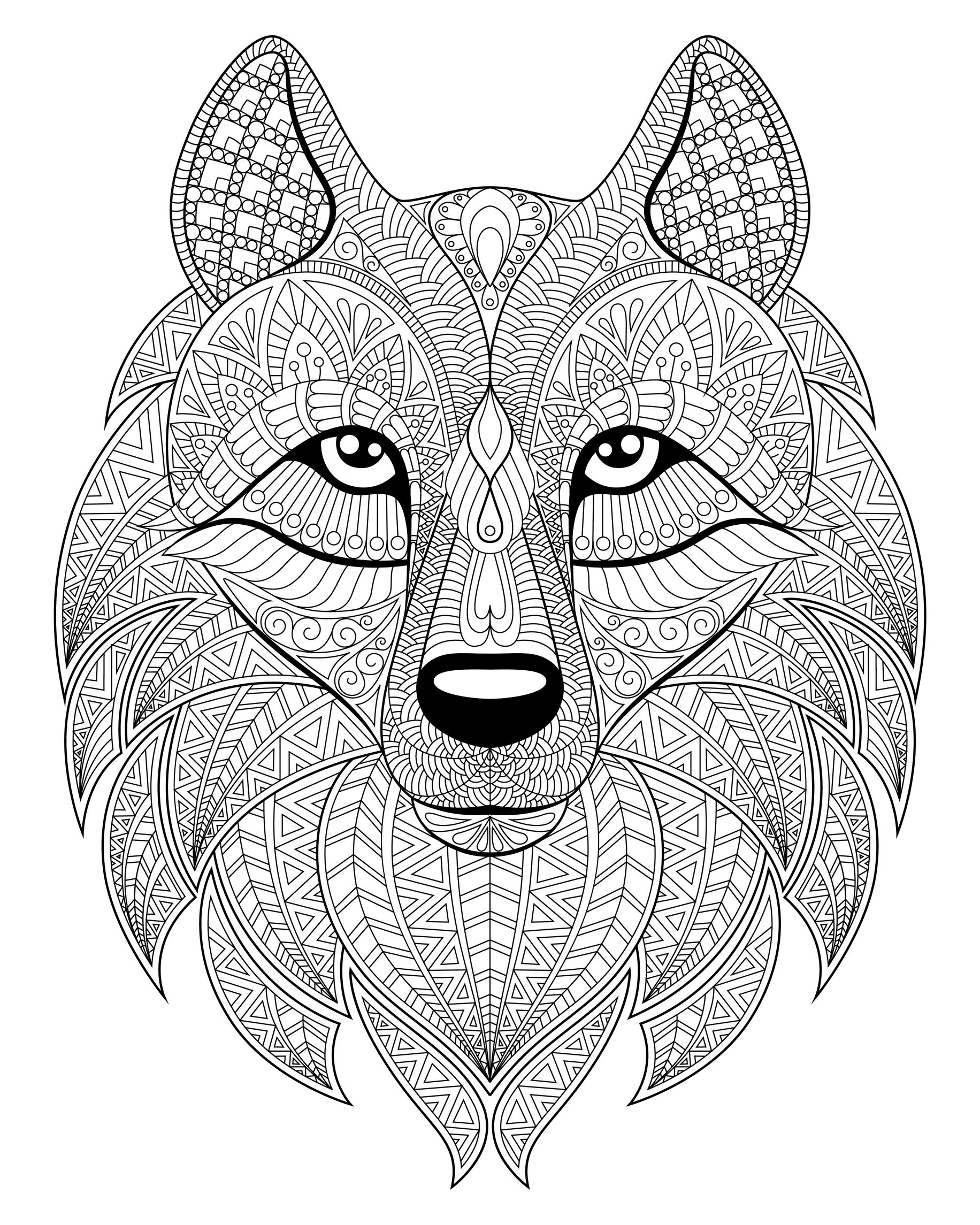 wolf pictures to color and print wolf head complex patterns wolves adult coloring pages wolf and to print color pictures