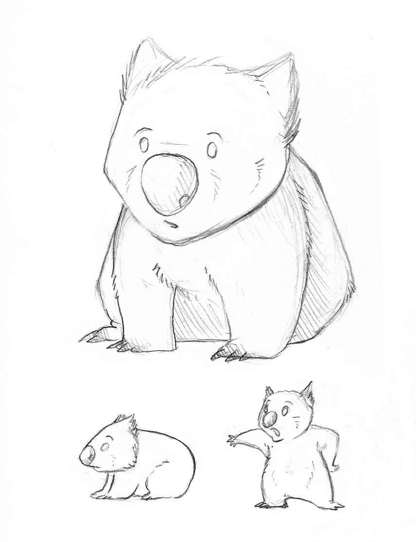 wombat drawing outline wombat coloring page from wombat category select from drawing wombat outline