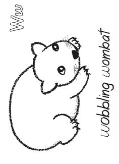 wombat drawing outline wombat outline clipart best outline drawing wombat