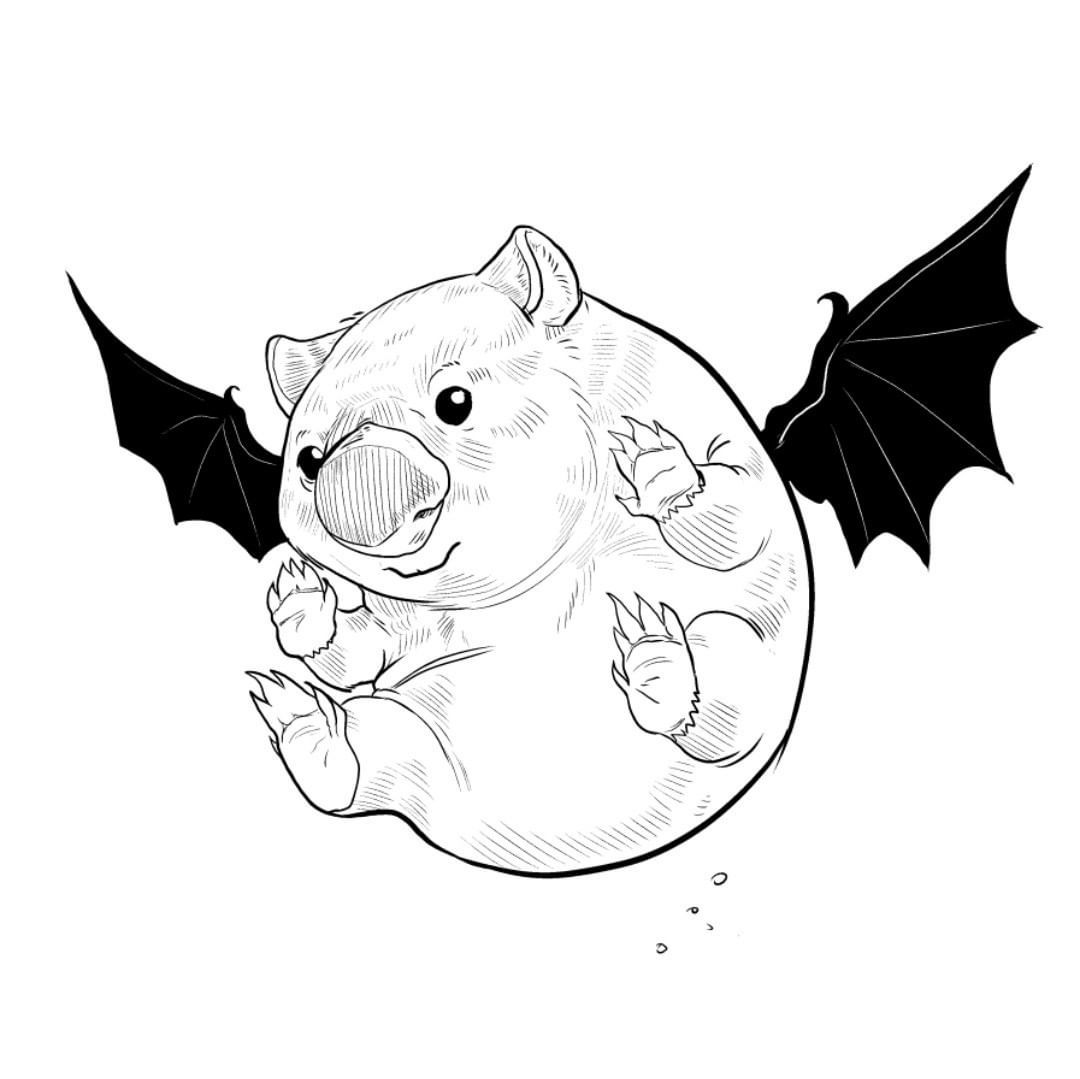 wombat drawing outline wombat pattern use the printable outline for crafts drawing wombat outline