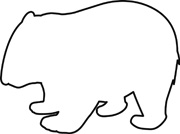 wombat drawing outline wombat silhouette stencil free stencil gallery drawing wombat outline