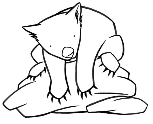 wombat drawing outline wombats by ancalinar on deviantart outline drawing wombat
