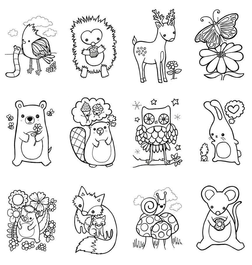woodland animal coloring pages coloring book woodland animals easter children craft zoo woodland animal coloring pages