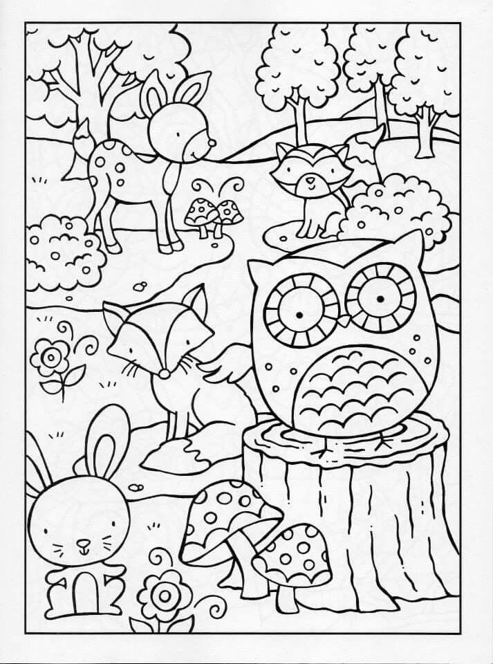 woodland animal coloring pages puppy dog in the forest coloring page free printable pages coloring woodland animal