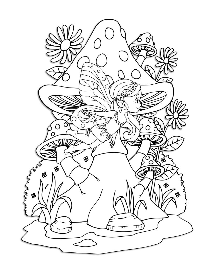 woodland fairy coloring pages fairy woodland garden scenes coloring pages for kids pages woodland coloring fairy
