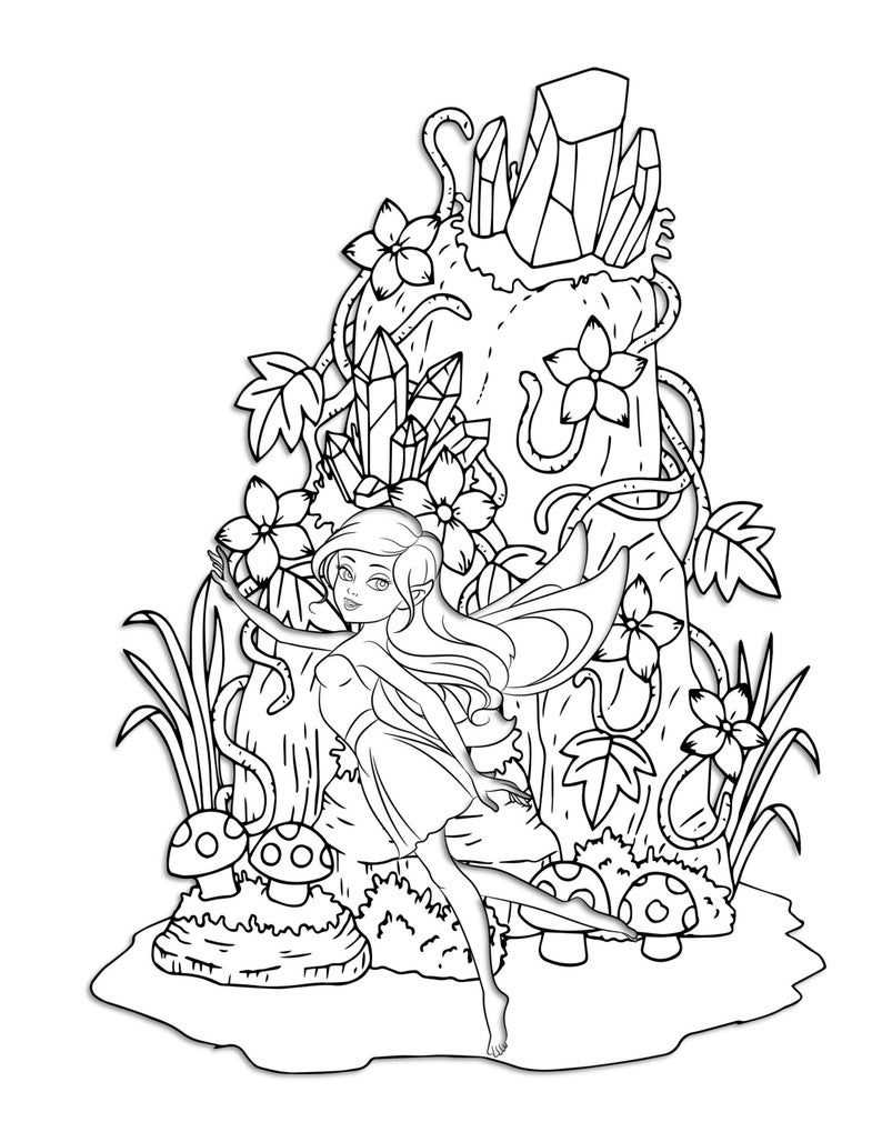 woodland fairy coloring pages woodland fairy coloring pages coloring home coloring woodland pages fairy