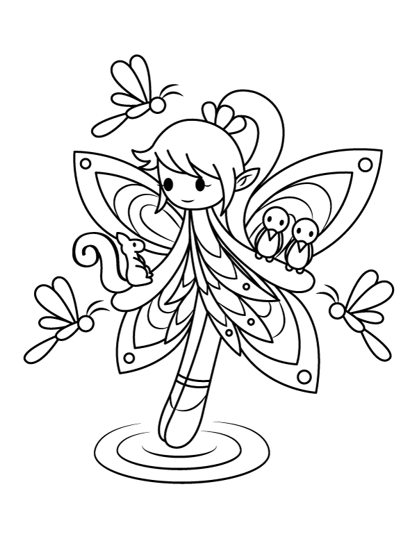 woodland fairy coloring pages woodland fairy coloring pages coloring home woodland fairy pages coloring