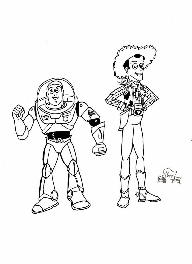 woody and buzz coloring pages buzz and woody by 7daywalk on deviantart woody buzz coloring and pages