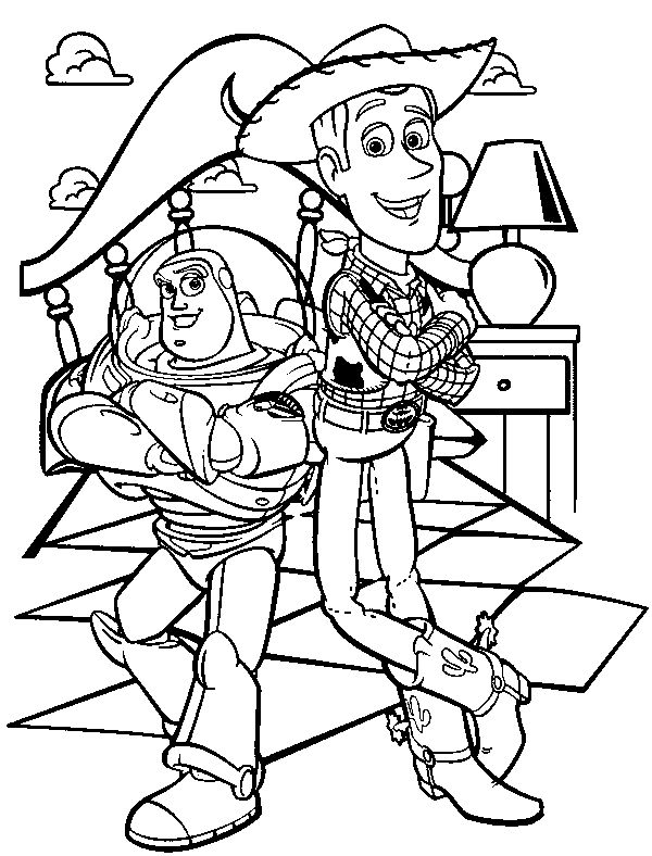 woody and buzz coloring pages buzz lightyear and sheriff woody dengan gambar pages woody coloring and buzz