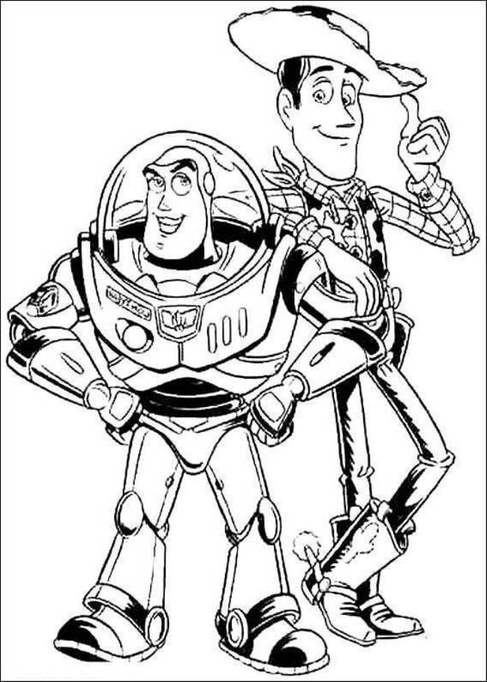woody and buzz coloring pages print buzz lightyear and woody sheriff toy story coloring woody coloring and buzz pages