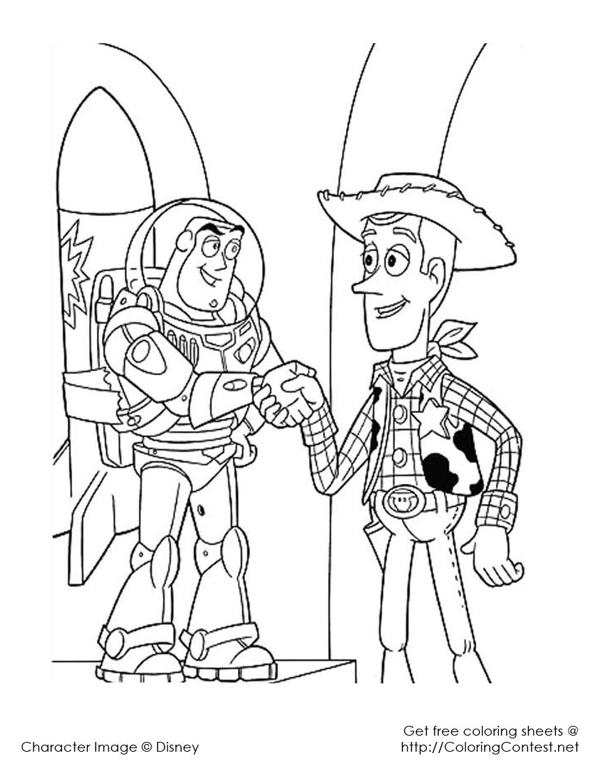 woody and buzz coloring pages woody and buzz dibujos para colorear disney páginas coloring buzz and pages woody