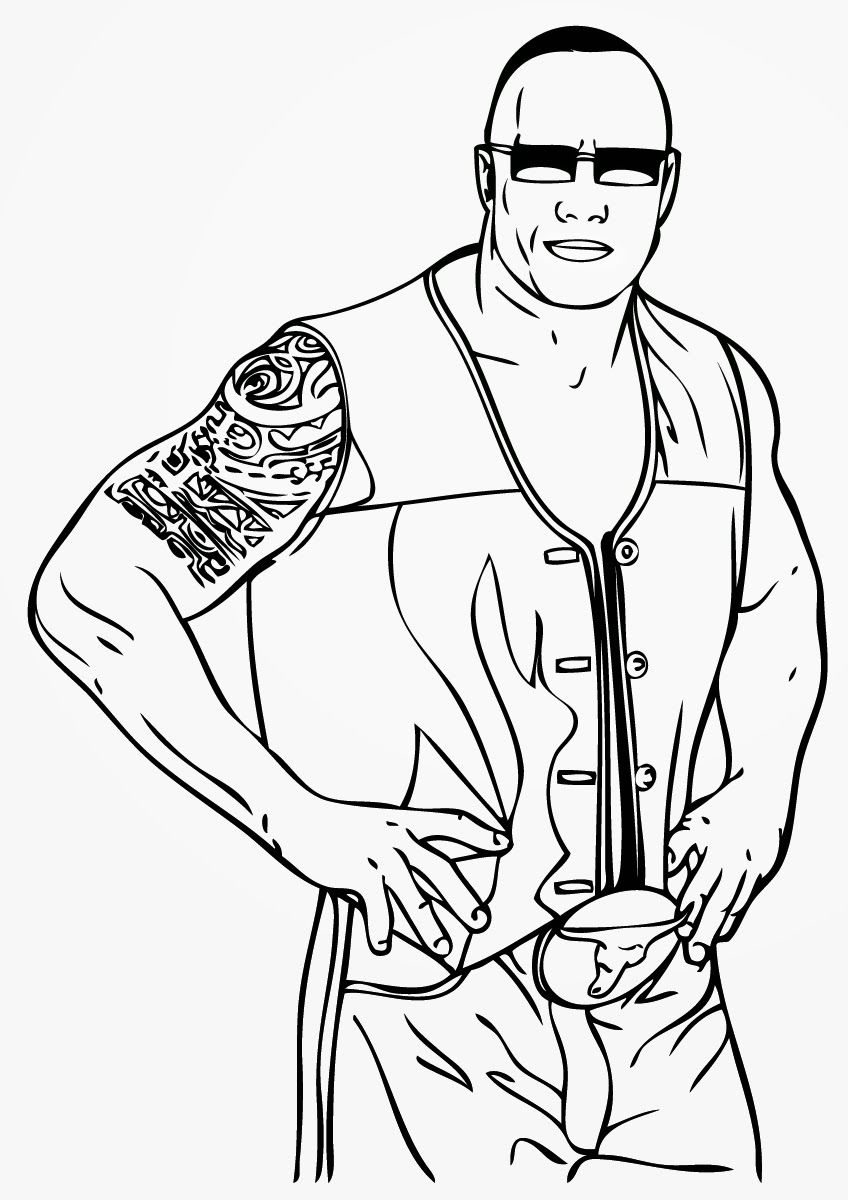 wwe coloring pages to print free printable world wrestling entertainment or wwe coloring print wwe to pages