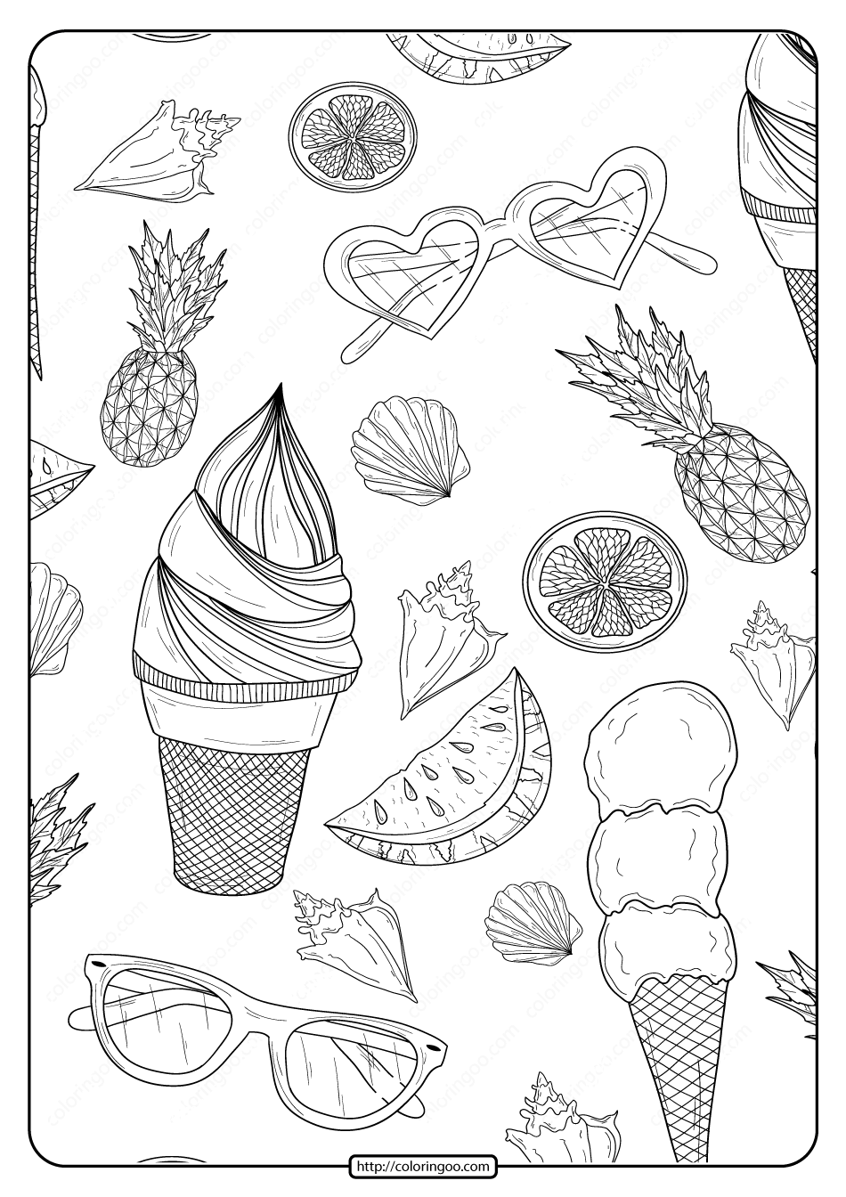 www coloring sheets free printable summer patterns pdf coloring page www coloring sheets