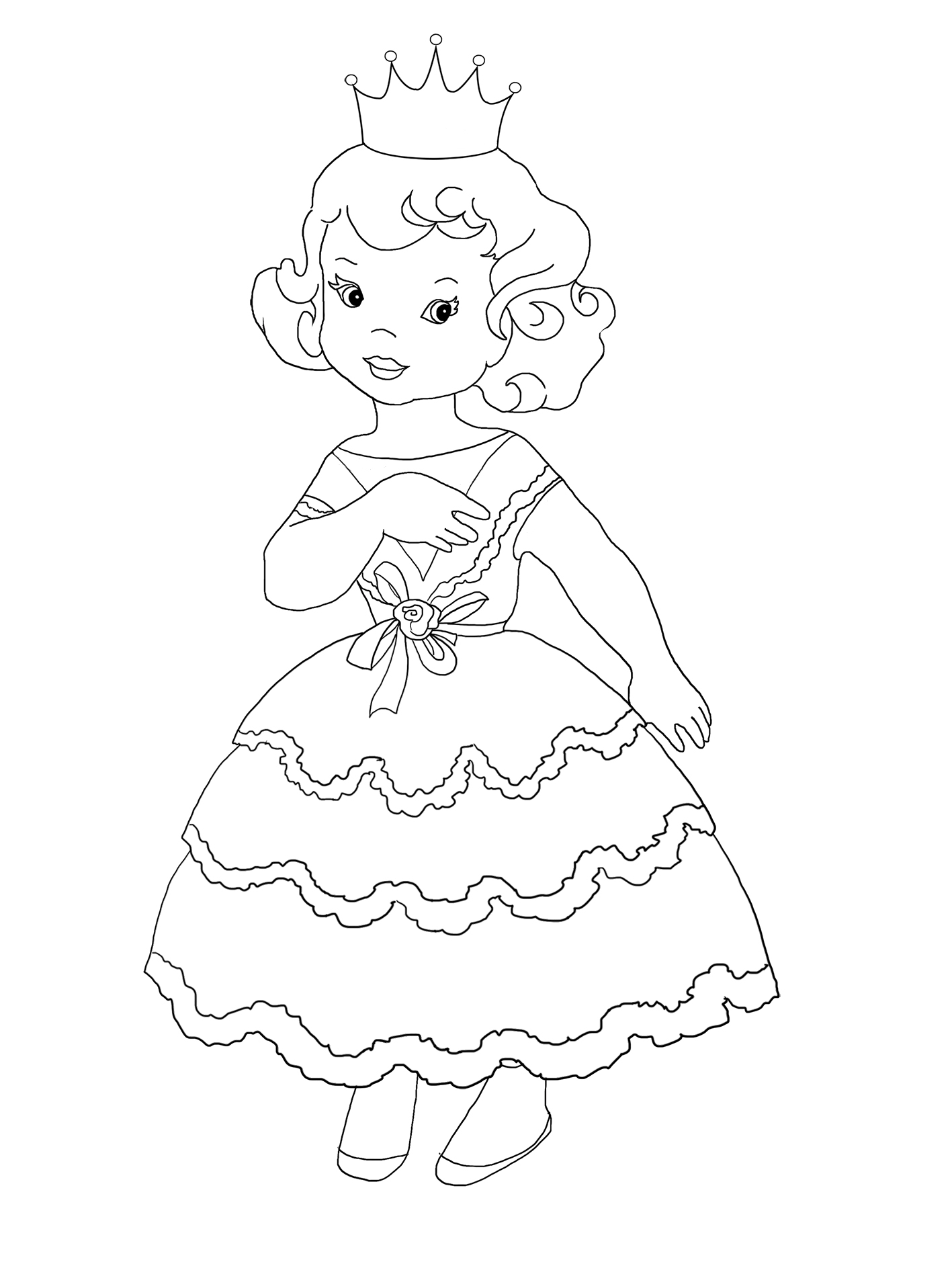 young princess coloring pages coloring page princess irene princess coloring young pages