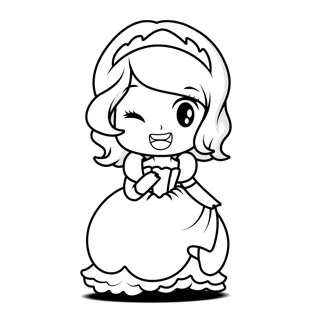 young princess coloring pages cute little princess coloring page free printable coloring young princess pages