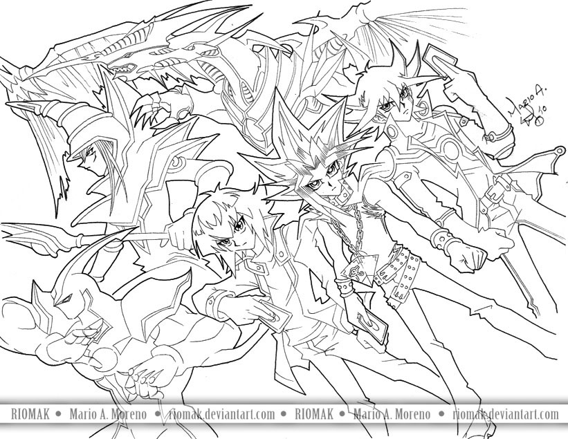 yugioh 5ds coloring pages jinzo from yu gi oh coloring page free printable 5ds coloring pages yugioh