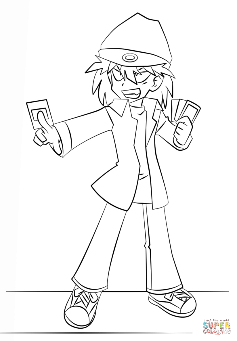 yugioh 5ds coloring pages yu gi oh 5ds coloring pages learny kids coloring yugioh 5ds pages