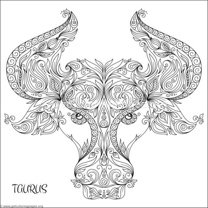 zodiac signs coloring pages zodiac signs by curvy tribal coloring page free pages signs coloring zodiac