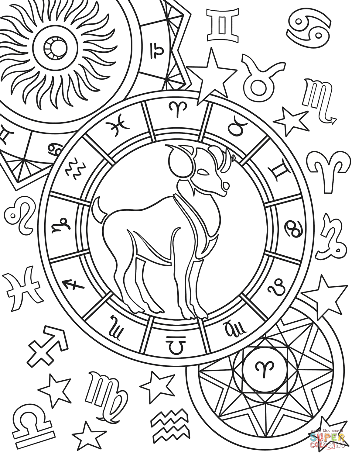 zodiac signs coloring pages zodiac signs coloring pages kidsuki zodiac pages coloring signs