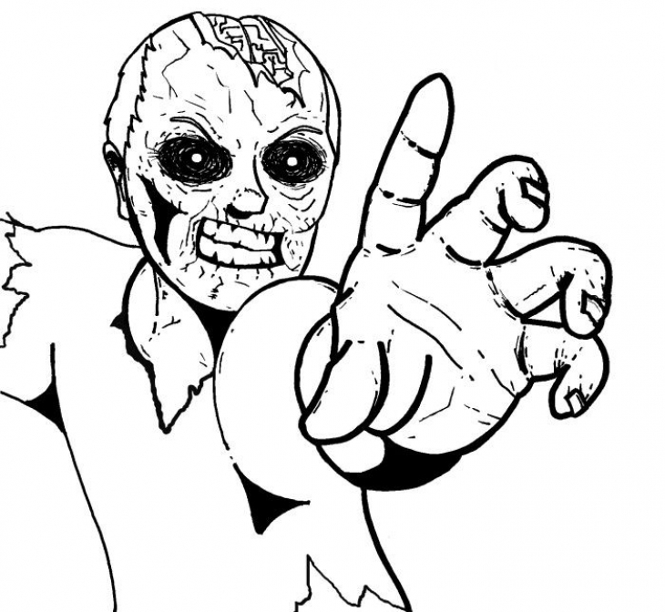 zombie coloring pages creepy doll coloring pages coloring home zombie pages coloring
