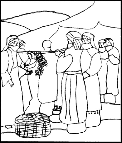 12 spies coloring page 80 best twelve spies images sunday school crafts joshua spies page coloring 12