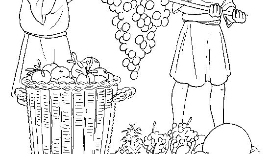 12 spies coloring page joshua and caleb sunday school coloring pages joshua spies 12 coloring page