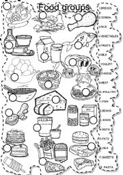 5 food groups coloring pages 12 best images of five food groups worksheets printable food 5 coloring pages groups