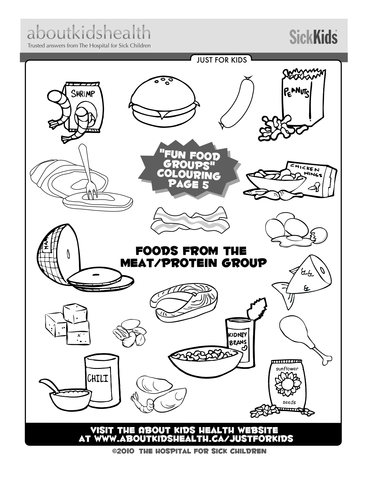 5 food groups coloring pages activity page to keep the kids busy saladswap 5 pages groups food coloring