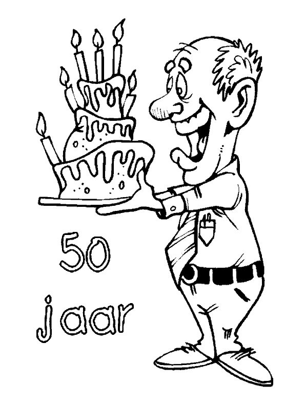 50th birthday coloring page 1000 images about 50 jaar on pinterest happy 50th coloring 50th page birthday