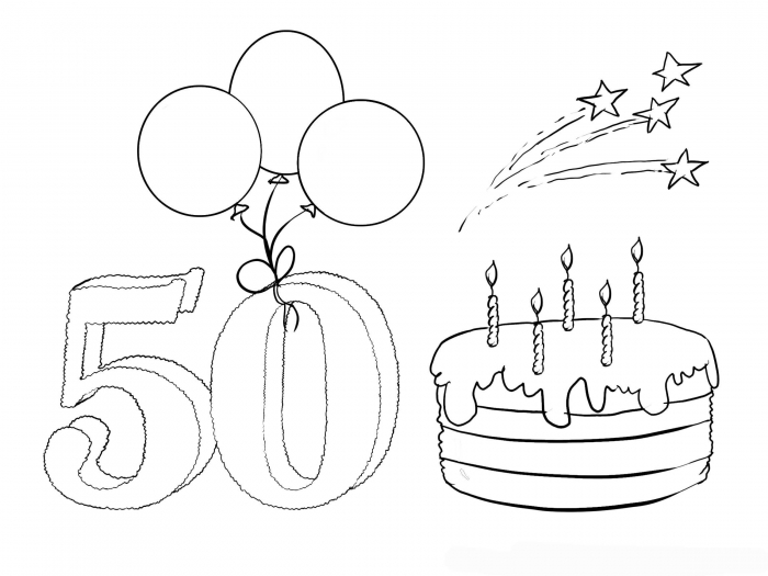 50th birthday coloring page 11 happy 50th birthday coloring pages free printable coloring birthday page 50th