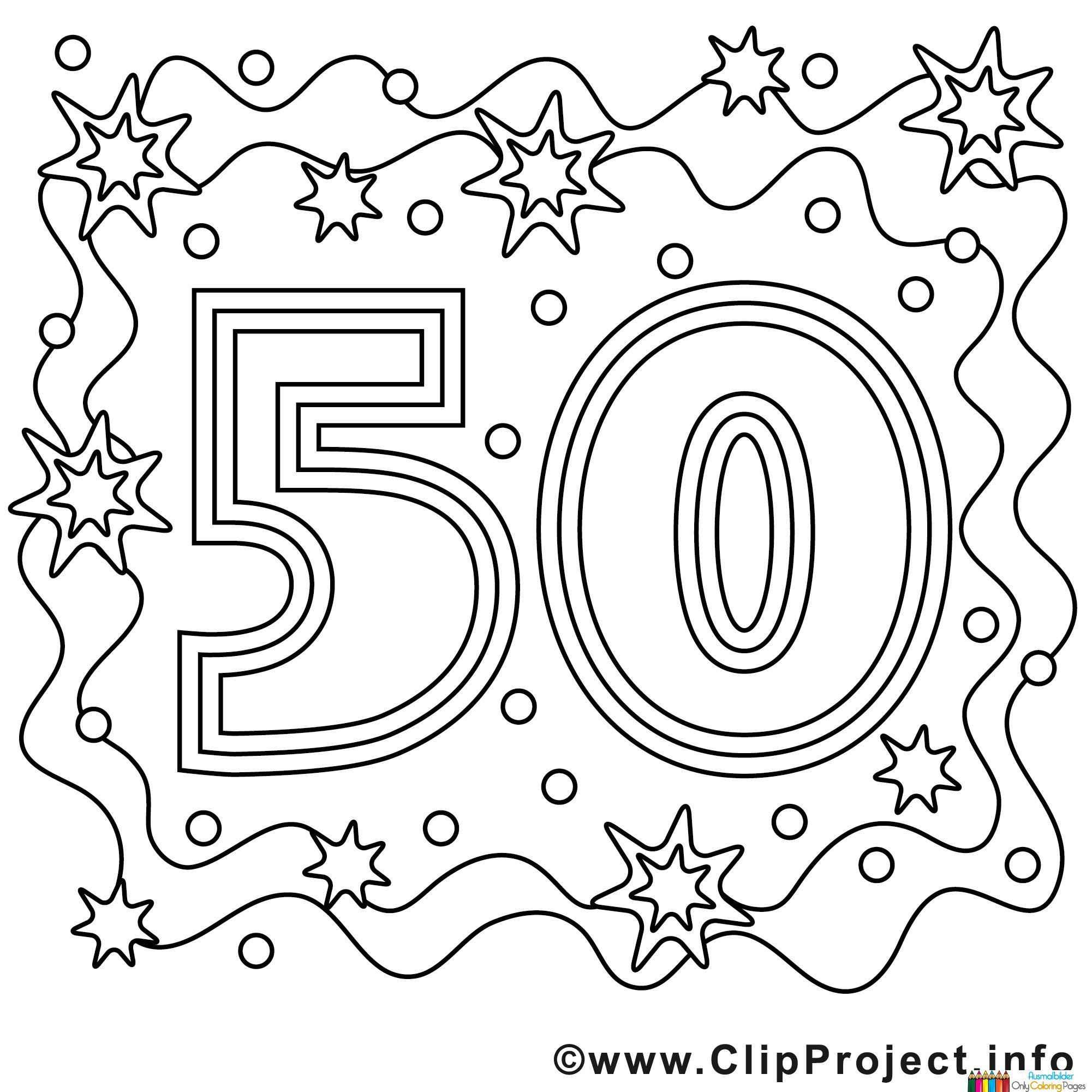 50th birthday coloring page 50th birthday cake coloring pages page birthday 50th coloring