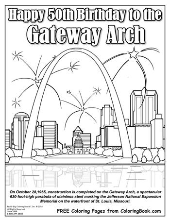 50th birthday coloring page coloring books free online coloring gateway arch birthday page coloring 50th birthday