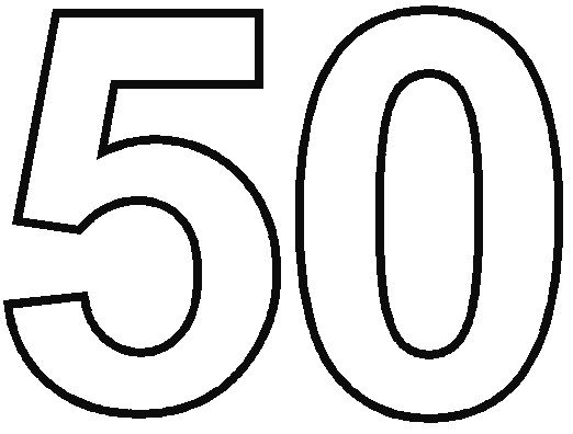 50th birthday coloring page number 50 coloring page printable numbers coloring birthday page 50th coloring