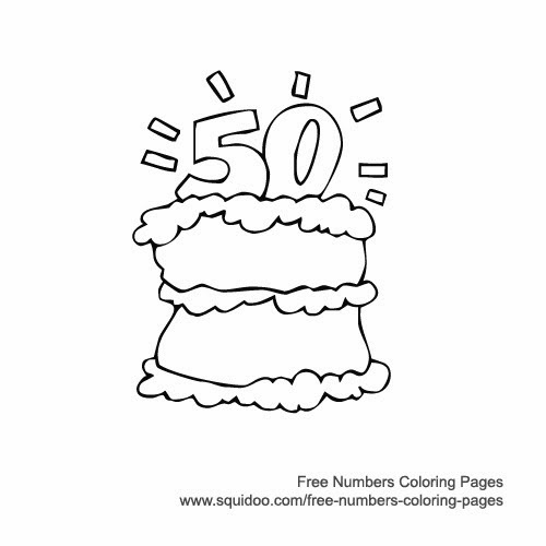 50th birthday coloring page number 50 coloring page sketch coloring page coloring 50th page birthday
