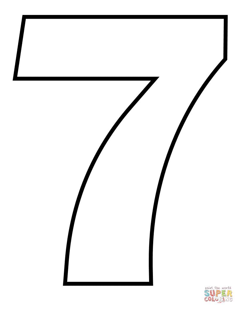 7 coloring sheet fileclassic alphabet numbers 7 at coloring pages for kids 7 sheet coloring