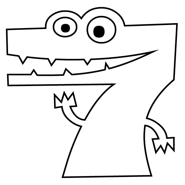 7 coloring sheet number 7 coloring page 7 sheet coloring
