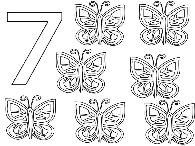 7 coloring sheet number 7 coloring pages for preschoolersfor toddlers 7 sheet coloring